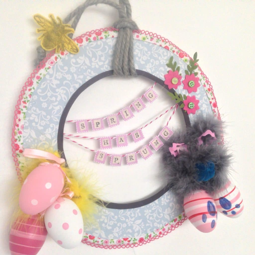 Spring Wreath Craft for Chronic Pain