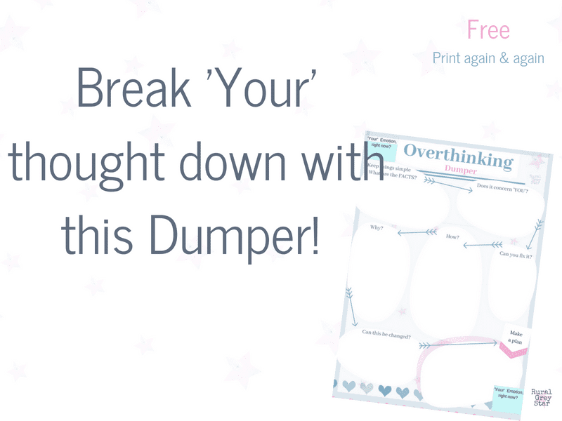 Break down your thought printable